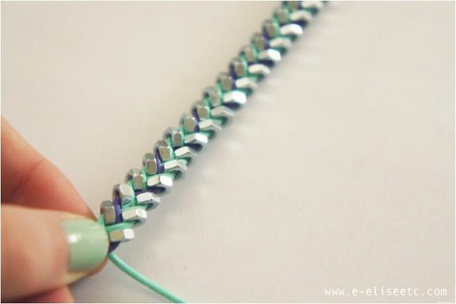 diy hex bracelet 4