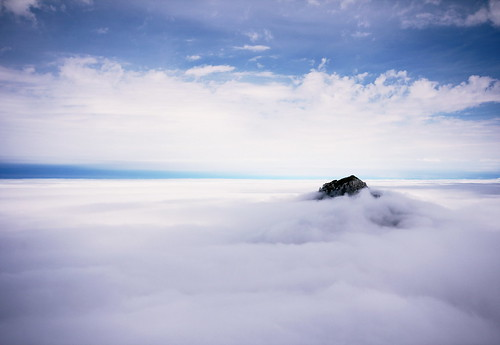 Over the clouds.