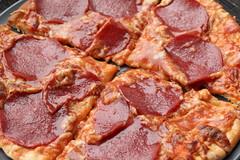 pizza, meat, food, dish, cuisine, pepperoni,