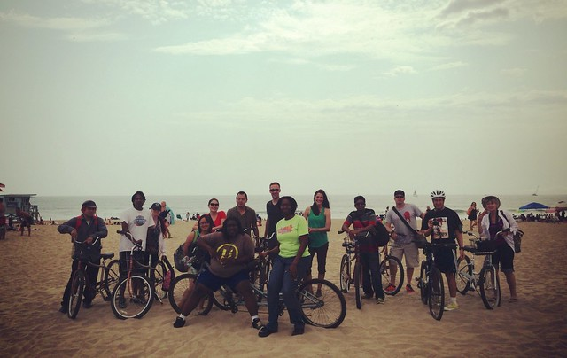 That's how we roll! #laflickrmeetup on bikes along the beach.