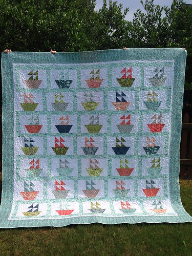 Sailboat quilt for Jenny