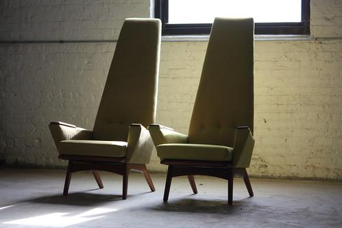 Twin Turbo Adrian Pearsall Mid Century Modern 'Slim Jim' Lounge Chair Model 1865-C for Craft Associates (U.S.A., 1960's)