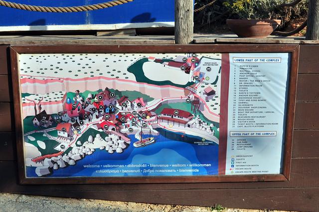 Mapa del pueblo, perfecto para encontrar a todos los personajes sweethaven village - 9391724403 d516c8d68c z - Sweethaven Village, el pequeño pueblo maltés donde vive Popeye