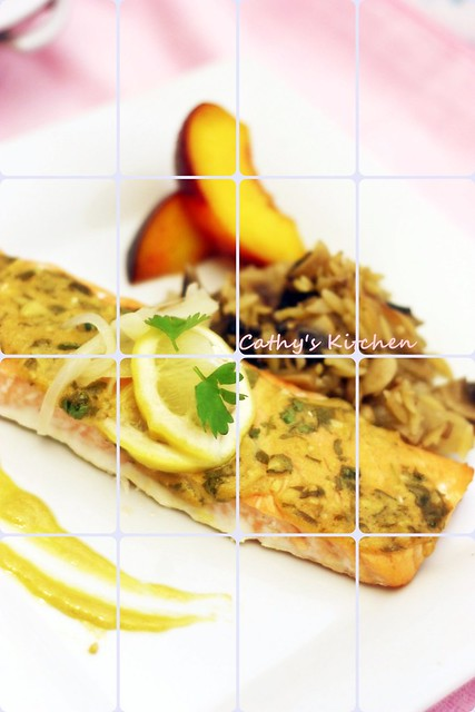 檬香芥末烤鮭魚 Baked Salmon with Lemon and Mustard  5