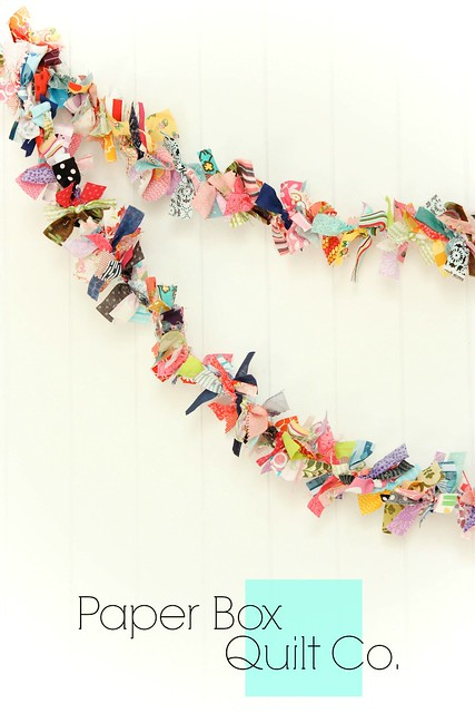 Scrap fabric Garlands