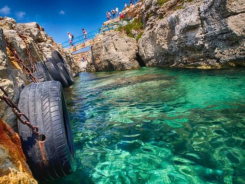 blue summer water rocks near malta lagoon tires clear bluelagoon clearwater gozo 500px photographyforrecreation ifttt