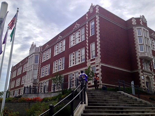 Garfield High School,  Seattle WA:  South and West Elevations