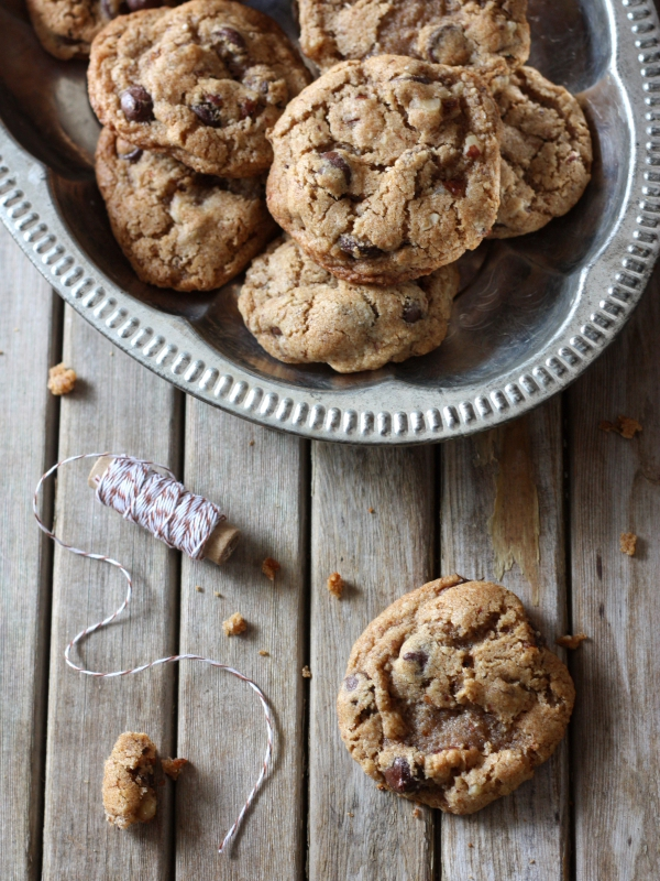 Whole Wheat Chocolate Chip and Hazelnut Cookies