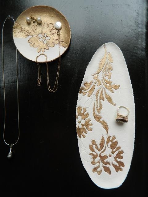 handmade gold jewelry organizers