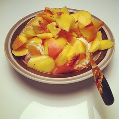 #Breakfast #fruit #banana #kick #nectarine #satsuma #shaytober #shayloss #spoon