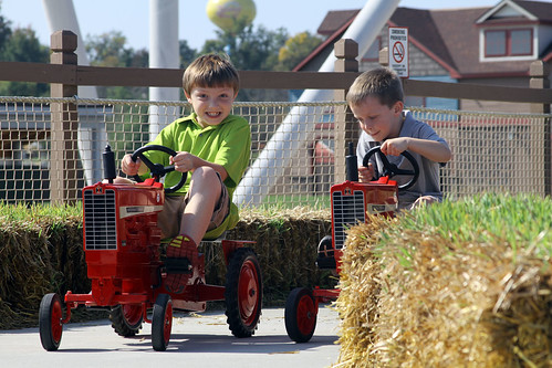 Pedal tractors at Holiday World