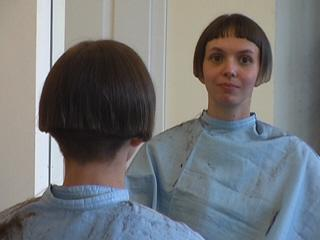 Flickr: The womens with shaved or very short nape haircut. bob cut or