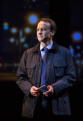 David Wilson Barnes in the Huntington Theatre Company's production of Stephen Belber's THE POWER OF DUFF.  October 11-November 9, 2013 at South End/Calderwood Pavilion at the BCA.  Photo T.Charles Erickson