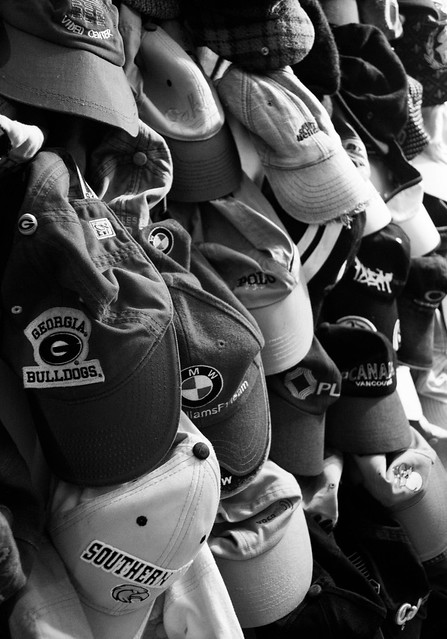 Cap Collection - Black and White Photography