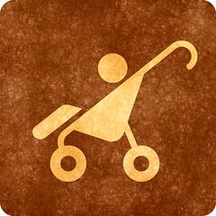 Sepia Grunge Sign - Baby Stroller