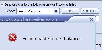 Unable to use DeathByCaptcha —  :: GSA SEO & Marketing Forum ::