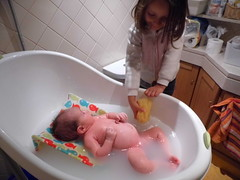 child, infant, bathing, toddler,