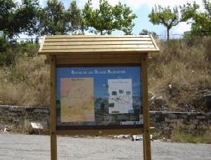 Panell informatiu de la ruta