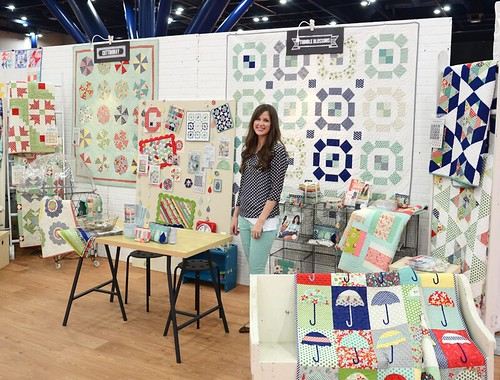 Quilt Market booth- me