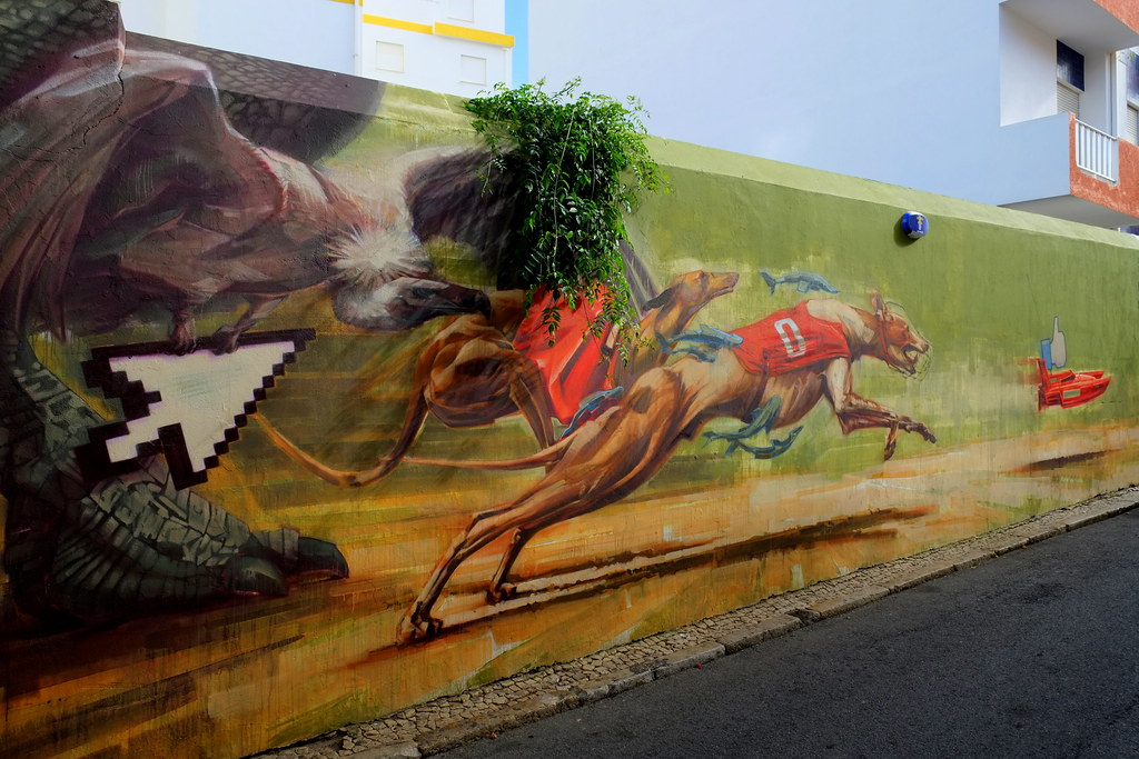 "mural | onur . wes21 | \""artur festival\"" lagos . portugal"