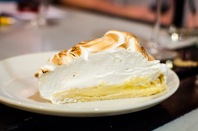 We finished the meal at Vinería San Telmo off with a glorious slice of lemon meringue pie, heavy on the meringue.