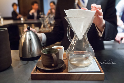 Coffee service using the Chemex, Cafe Grumpy Santa Teresa, Guatemala beans