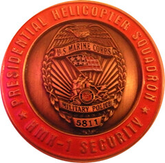 Marine Presidential Helicopter Squadron challenge coin obverse