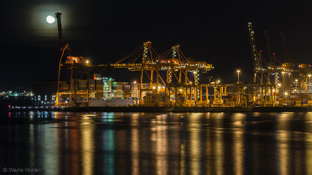 Container Port and Moon