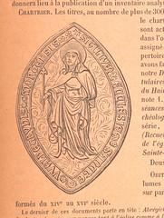 """British Library digitised image from page 731 of """"Description analytique de cartulaires et de chartriers accompagnée du texte de documents utiles à l'histoire du Hainaut"""""""