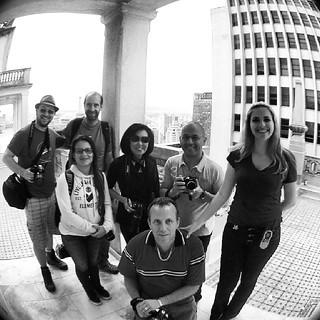 Oficina PB 01/12/13 - Foto oficial na cobertura do Edifício Martinelli