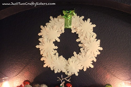 Snowflake holiday wreath