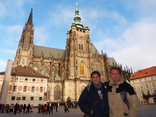 En la Catedral de Praga con Paco Nadal