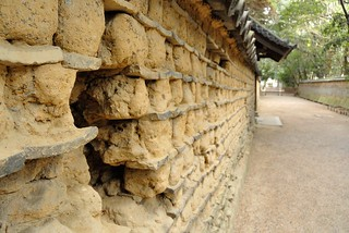The clay wall of Toshodai-ji temple.