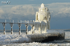"""Natures Art""  St Joseph Lighthouse image GOES VIRAL! by Michigan Nut"