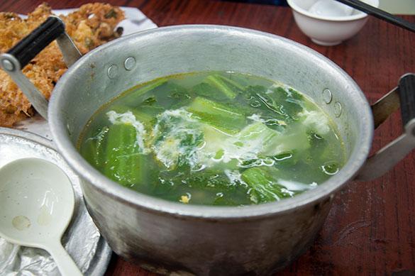 金銀旦芥菜湯