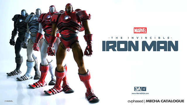 threeA x Marvel - The Invincible Iron Man - Colored Prototype Shots
