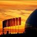Bolshoy Hockey Palace Dome in Sunset
