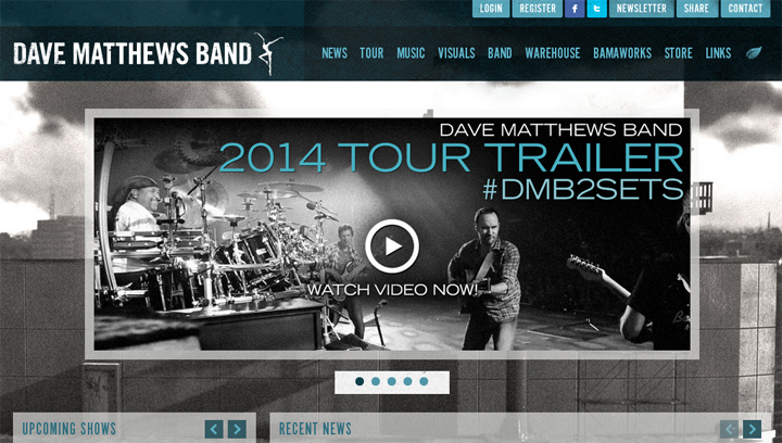 screenshot official website dave mattews band | ekajogja.com