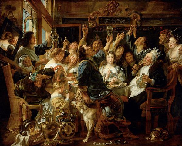 4. Celebración de las Saturnales. Obra de Jakob Jordaens (1640-1645)