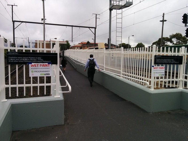 Bentleigh station - When is platform 3 in use?