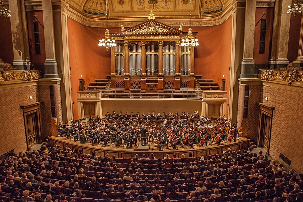 El Camino Youth Symphony performs in Dvorak Hall of the Rudolfinum in Prague