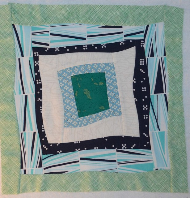 Gee's Bend inspired square in square block for Annabella