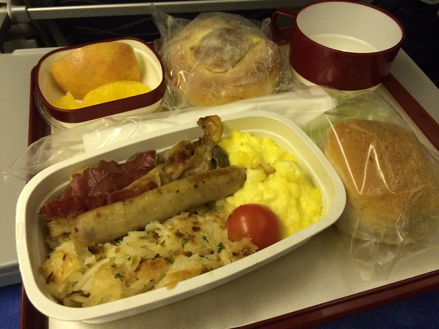 Scrambled eggs and chicken sausage - Philippine Airlines