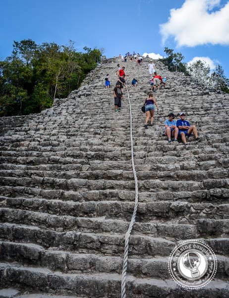 4 Must-See Mayan Ruins in the Yucatan Peninsula  - Climbing Coba Mayan Ruin