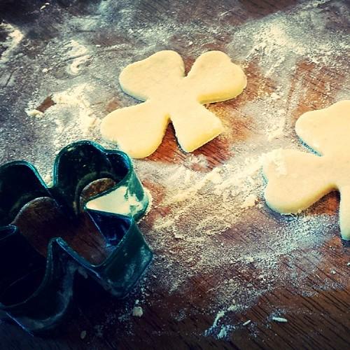 St. Patrick's Day baking. #baking #vegan #waldorf #festivals