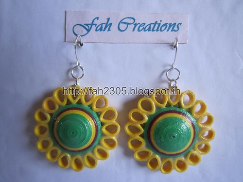 Paper Beads and Quilling Brooch Necklace & Studs (FAH01225) (4) by fah2305