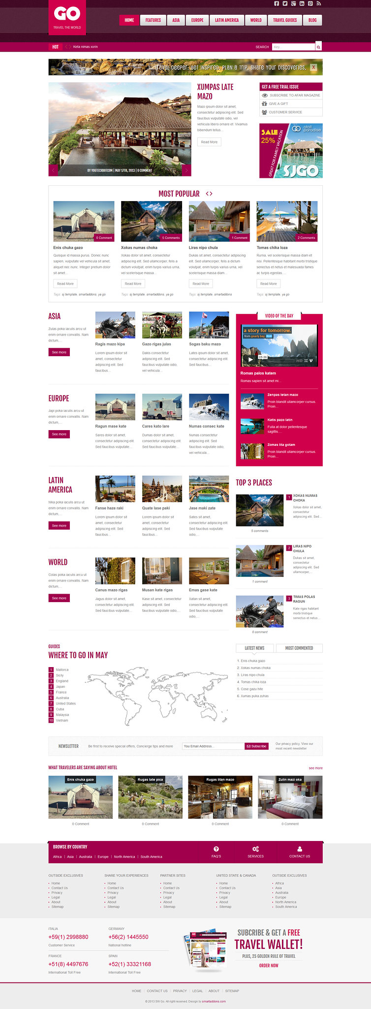 Go Travel In the World WordPress Theme