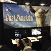 Only the latest and greatest at #GDC. #OculusRift is pretty sweet though. #goatSimulator by kevin+chow