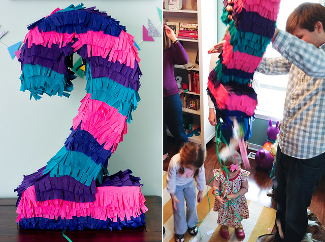DIY pull-string piñata