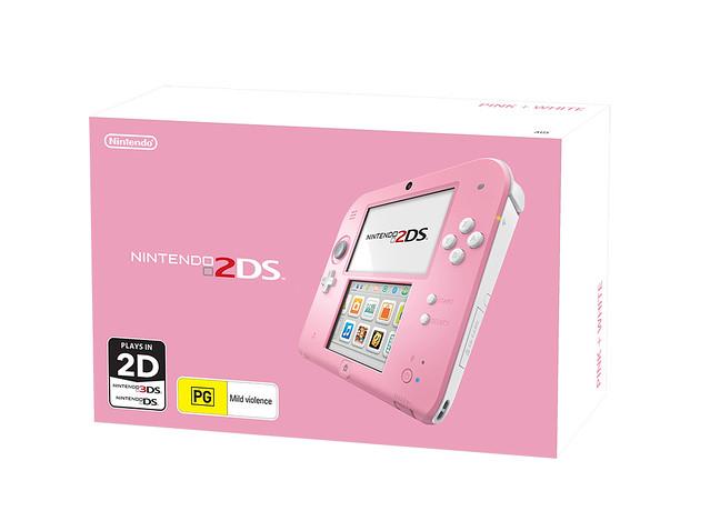 Pink + White Nintendo 2DS Australia